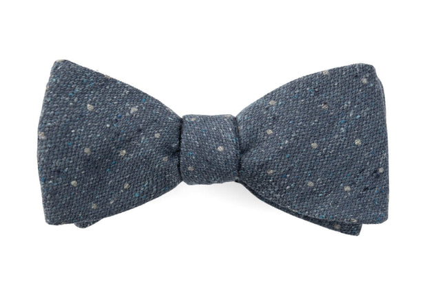 Slate Blue Redwood Dot Bow Tie