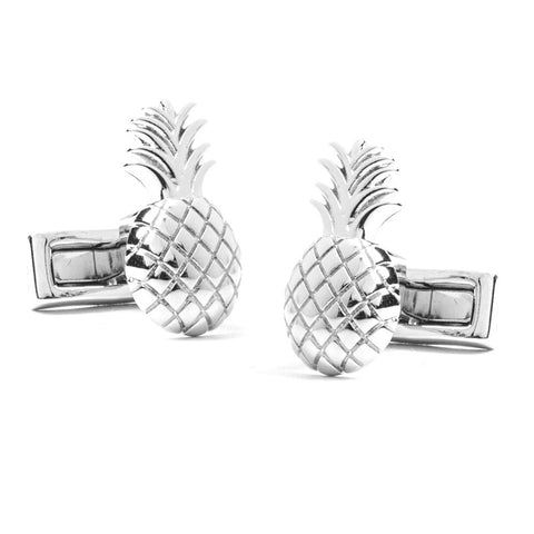Silver Pineapple Farm Cufflinks