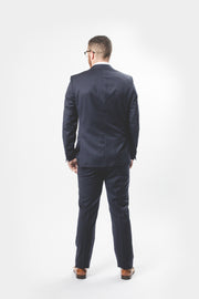 Pursuit Navy Pencil Stripe Small-Batch Suit