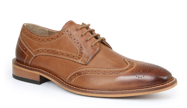 Giorgio Brutini Rust Wing Tip Dress Shoe