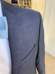 Pursuit Navy Windowpane Suit Coat