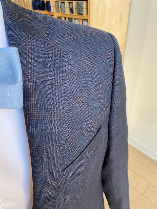 Pursuit Navy Windowpane Suit Coat - FINAL SALE