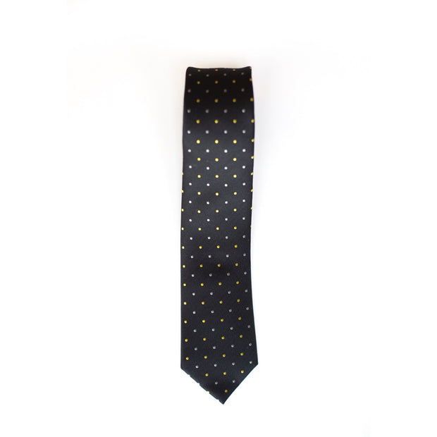 Black & Gold Dotted Tie