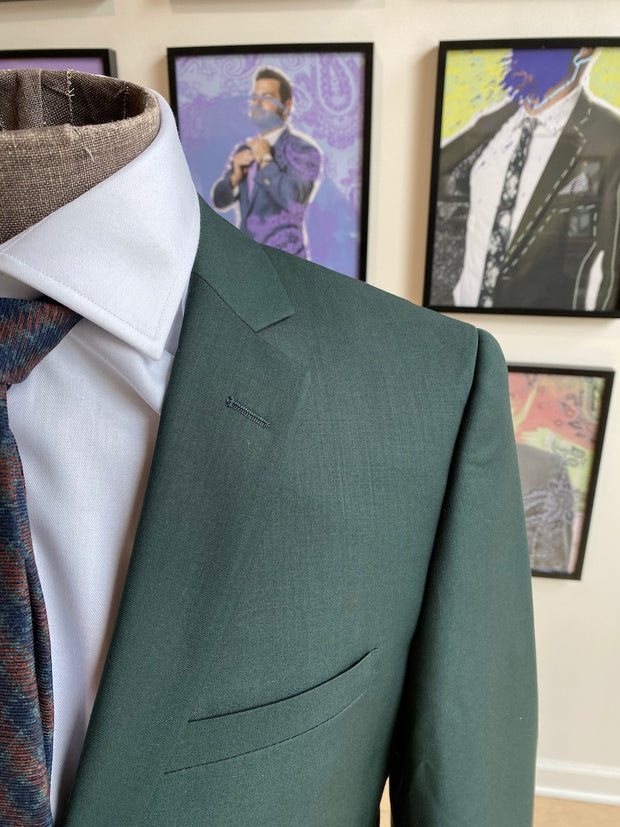 Pursuit Hunter Green Slim Suit Coat