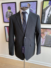 Pursuit Charcoal Two-Tone Check Slim Suit Coat