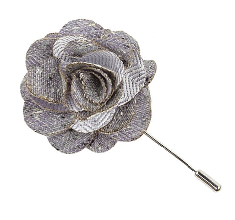 Lavender Buff Solid Lapel Flower Pin