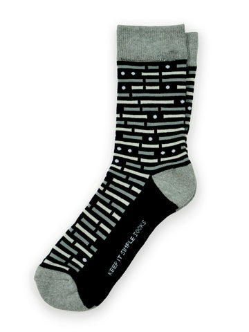 Keep It Simple Morse Code Socks