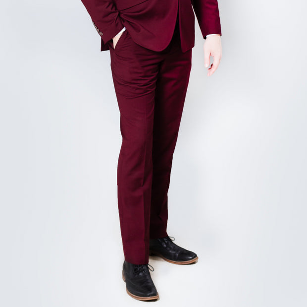 Pursuit Burgundy Slim Fit Suit Pant