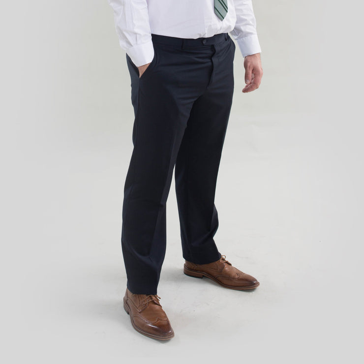 Pursuit Navy Regular Fit Suit Pant - FINAL SALE