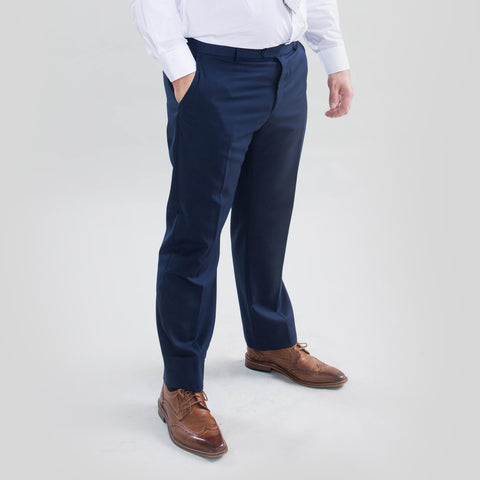 Pursuit Blue Regular Fit Suit Pant