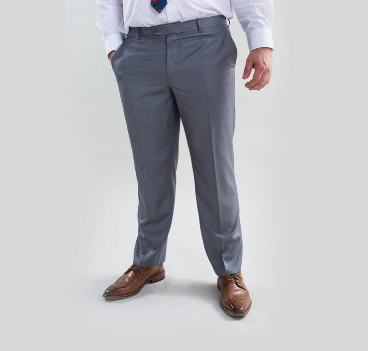 Pursuit Light Gray Regular Fit Suit Pant
