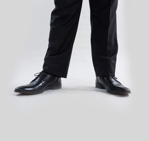 Pursuit Black Regular Fit Suit Pant