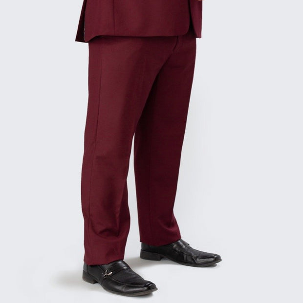 Pursuit Burgundy Regular Fit Suit Pant