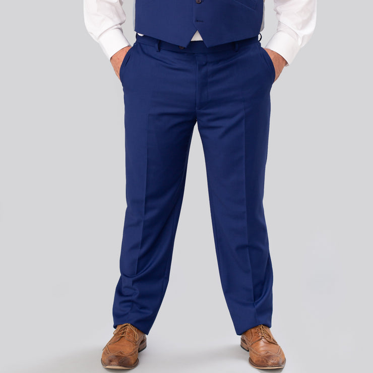Pursuit French Blue Regular Fit Suit Pant