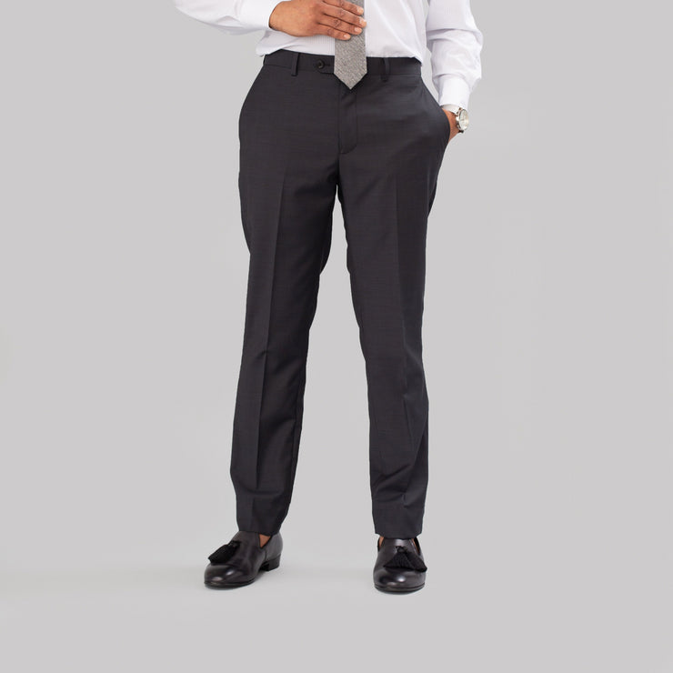 Pursuit Charcoal Steel Sharkskin Suit Pant - FINAL SALE
