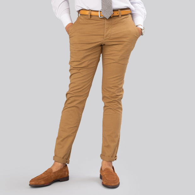 French Connection Stretch Slim Old Camel Chino