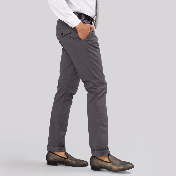 French Connection Stretch Slim Charcoal Chino