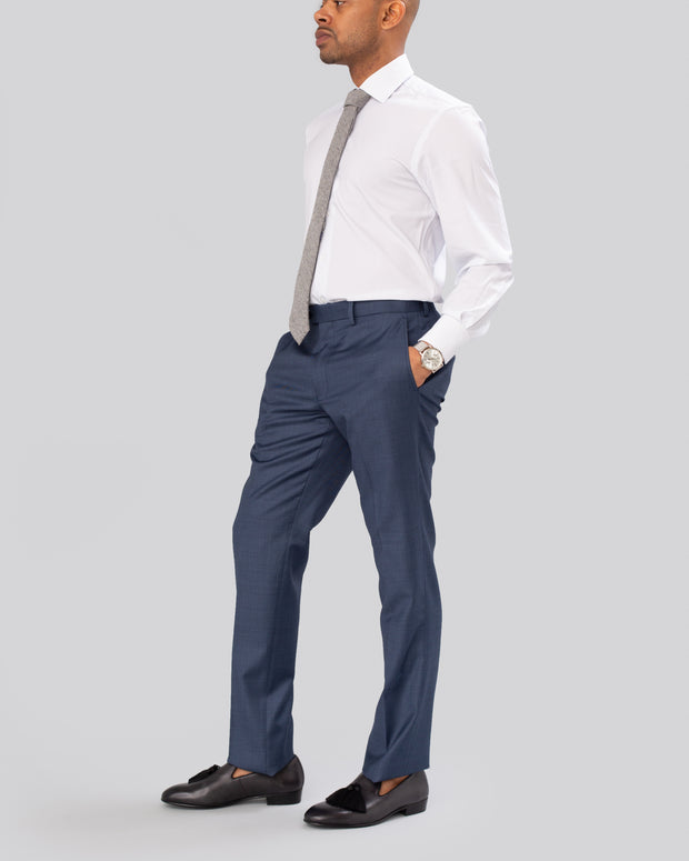 Pursuit Blue Sharkskin Suit Pant