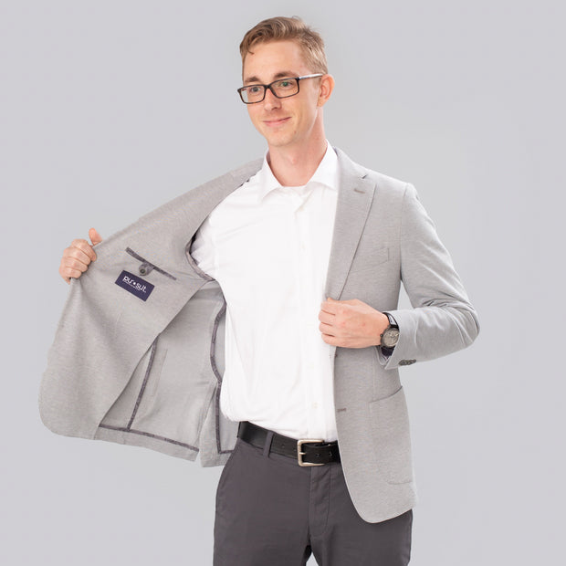 Pursuit Light Gray Performance Stretch Unconstructed Blazer