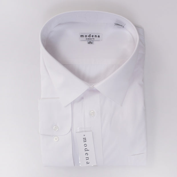 Modena Traditional Fit White Shirt