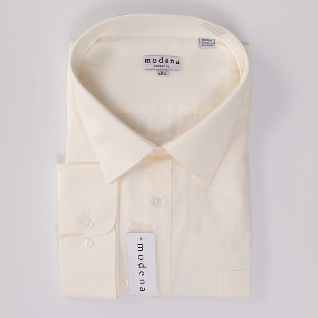 Modena Traditional Fit Eggshell Shirt