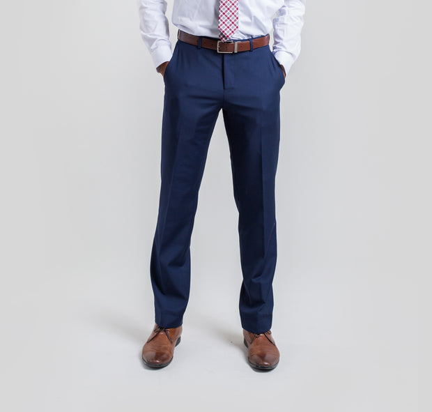 Pursuit Blue Slim Fit Suit Pant