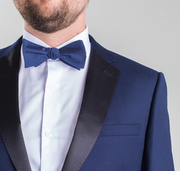 Trend Slim Blue and Black Lapel Tuxedo