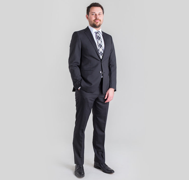 Pursuit Black Pinstripe Small Batch Suit