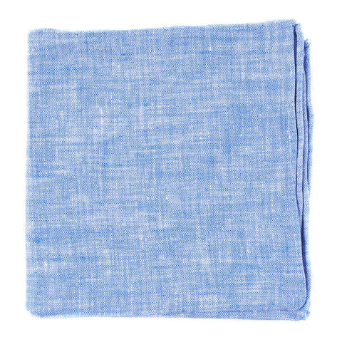 Light Blue Freehand Solid Pocket Square