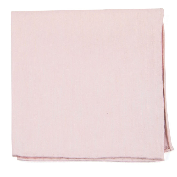 Blush Pink Linen Row Pocket Square