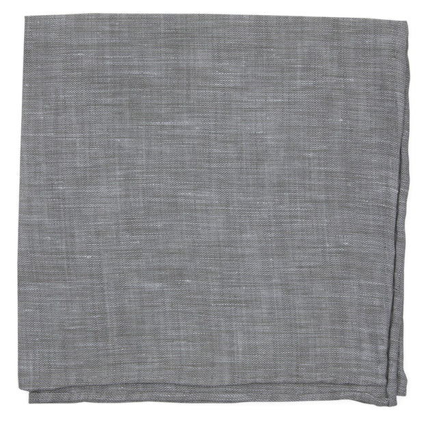 Gray South End Solid Pocket Square