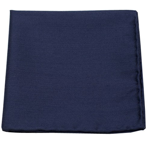 Navy Astute Solid Pocket Square