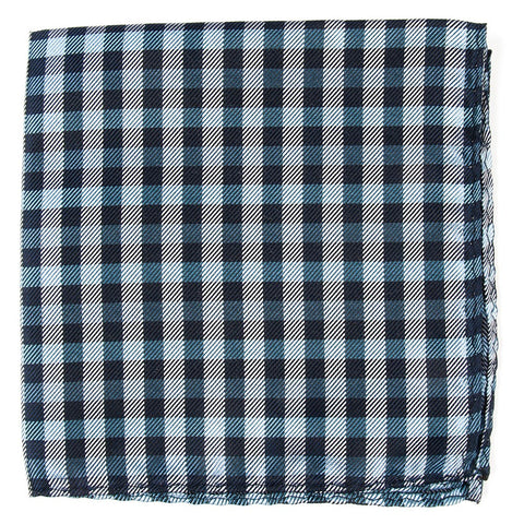Navy Polo Plaid Pocket Square
