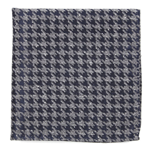 Navy Houndstooth Thrill Pocket Square