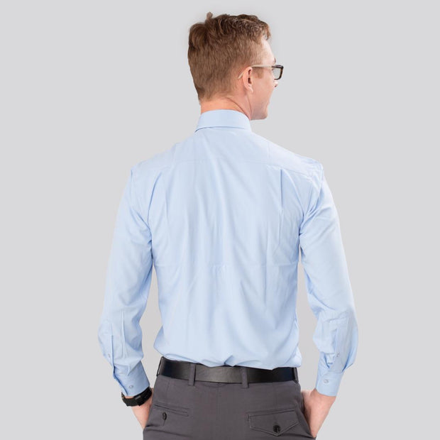 Proper Sport Light Blue Solid Performance Stretch Dress Shirt