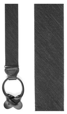 Black Festival Texture Solid Loop Suspenders