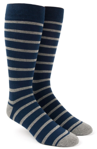 Navy Trad Stripe Sock