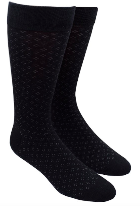 Speckled Black Socks