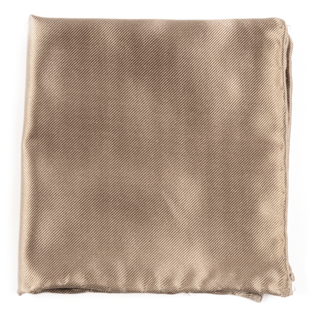 Champagne Solid Twill Pocket Square