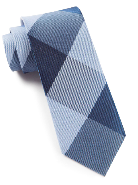 Blue Bison Plaid Tie