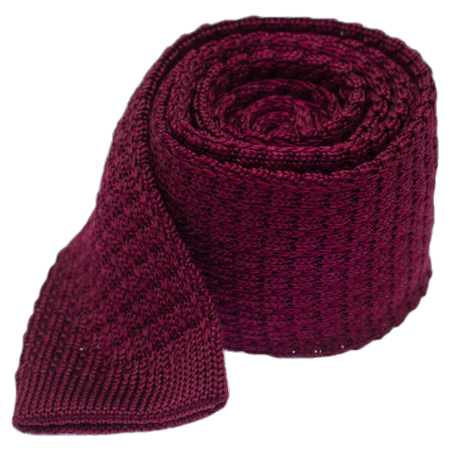 Burgundy Textured Knit Tie