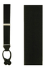 Black Solid Satin Loop Suspenders