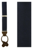 Midnight Navy Solid Satin Loop Style Suspenders