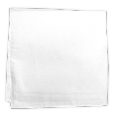 Solid White Cotton Pocket Square