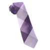 Purple West Bison Plaid Tie
