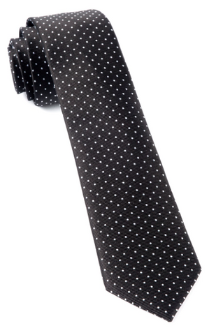 Black Mini Dots Tie