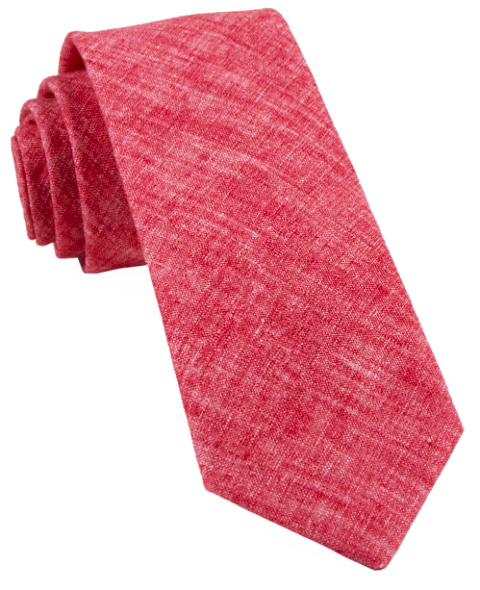 Red Freehand Solid Tie