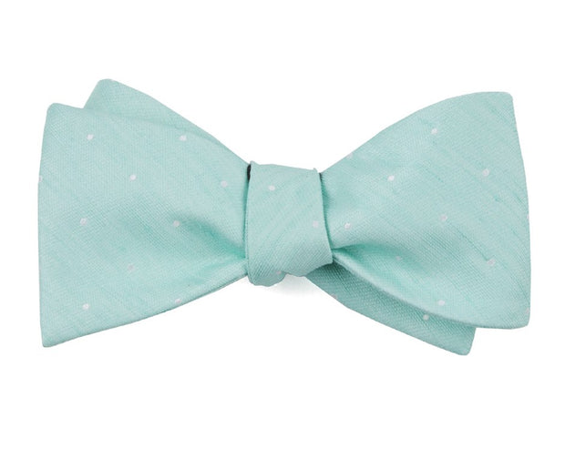 Spearmint Bulletin Dot Bow Tie