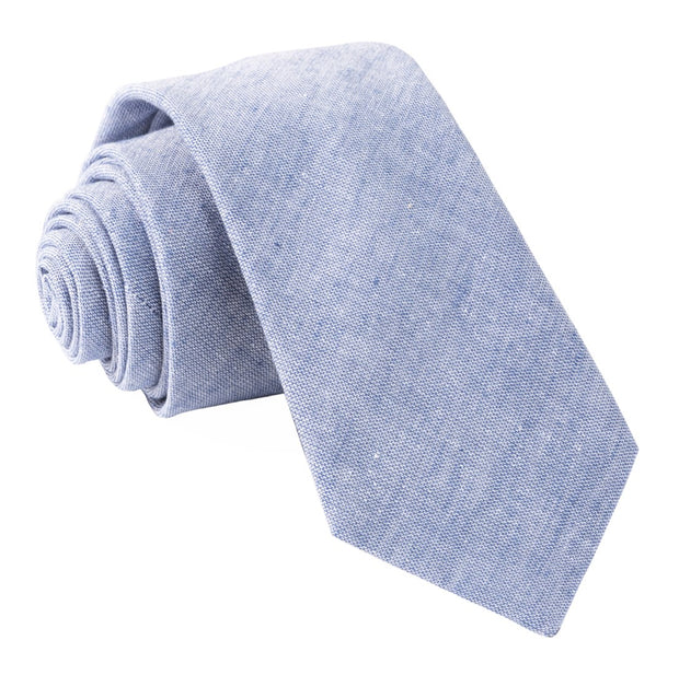 Blue Solid Breeze Tie