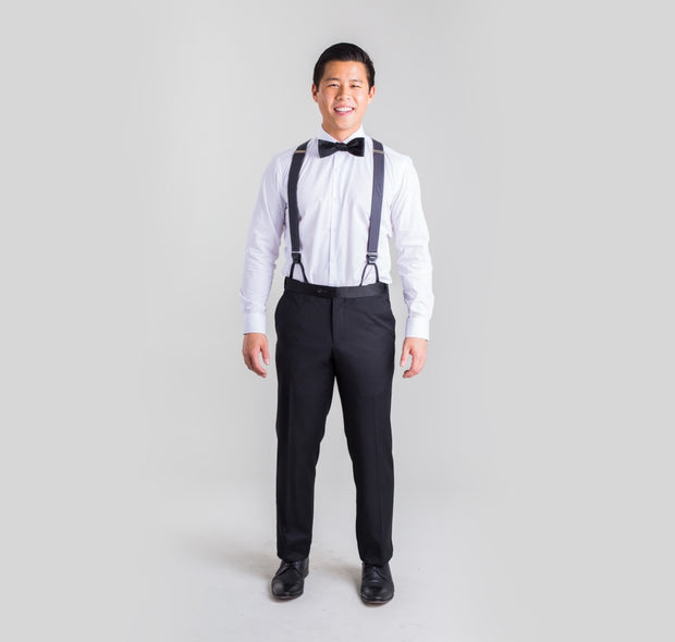 Pursuit Black Regular Fit Tuxedo Pants